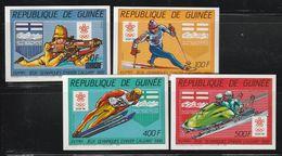 GUINEE - N°819/20+A212/3 ** NON DENTELE (1986) Jeux Olympiques à Calgary - Guinea (1958-...)