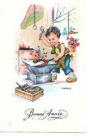 Carte Mignonnette - Bonne Année Illustrateur Gougeon - Neujahr
