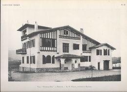 """HABITATION BASQUE - PL.12. Villa """" ETCHELAR-ENIA"""" à HENDAYE - M.W. MARCEL, Architecte à Bayonne - Arquitectura"""