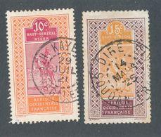 HAUT SENEGAL ET NIGER - N° 22/23 OBLITERES - 1914/17 - Usados