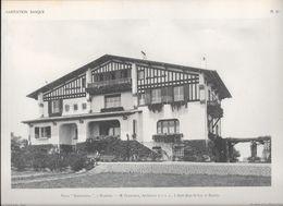 """HABITATION BASQUE - PL.10. Villa """" IRRINTZINNA"""" à BIARRITZ - M. GODBARGE, Architecte à Saint -Jean De Luz Et Biarritz - Arquitectura"""