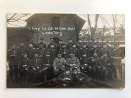 Foto Ak 6 Korp Ersatz Batl 79 Rekr Dep 1 6 Abteilung Uniform Deutsche Soldaten - Guerre 1914-18