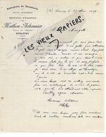 02 - Aisne - SINCENY - Facture MATHON-ARBONNIER - Menuiserie - 1909 - REF 149A - France