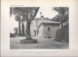 """L'HABITATION PROVENCALE - PL.1 """"CLOS DE LA MADRAGUE"""" Villa De M.et Mme Victor MARGUERITTE à Sainte-Maxime (Var) - Arquitectura"""