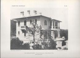 """L'HABITATION PROVENCALE - PL 10. """"LES BOUGAINVILLEES"""" Villa Du Dr BOURGOIN à Sainte-Maxime (Var) Façade Sud-Ouest - Arquitectura"""