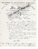 02 - Aisne - SOISSONS - Facture MELIN - Machines Et Instruments Agricoles - 1907 - REF 149A - France