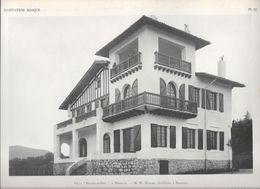 """HABITATION BASQUE - PL.13. Villa """" ETCHELAR-ENIA"""" à HENDAYE - M.W. MARCEL, Architecte à Bayonne - Arquitectura"""