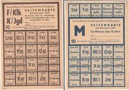 Bizone / 1949 / 2 Seifenkarten (Vereinigtes Wirtschaftsgebiet) (BQ33) - American/British Zone
