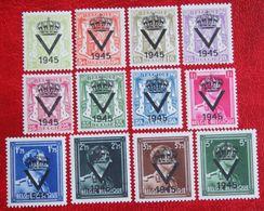 Overprint V 1945 Prive Uitgave NOT COMPLETE OBP PR61-PR75 POSTFRIS / MNH ** BELGIE BELGIUM - Unused Stamps