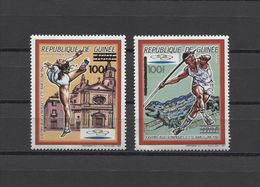 Guinea Olympics Barcelona JO 2v 1992 OVPT. NEW CURRENCY MNH - Summer 1992: Barcelona