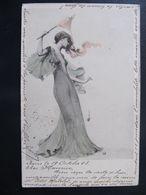 CPA - FEMME  - ART NOUVEAU - Künstlerkarten