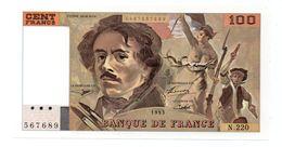 100 Fr.. Delacroix 1993.. Alpha. N. 220.. NEUF - 100 F 1978-1995 ''Delacroix''