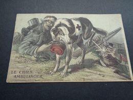 Carte ( 1213 ) Fantaisie  Fantasie  Thème : Animal  Chien  Hond   Chien Ambulancier - Chiens
