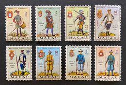 MAC5407-14MNH - Army Uniforms Complete Set Of 8 MNH Stamps - Macau 1966 - Neufs