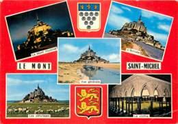 50 LE MONT SAINT MICHEL MULTIVUES BLASON - Le Mont Saint Michel