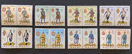 MAC5407-14MNHx2 - Army Uniforms Complete Set Of 8 Pairs Of MNH Stamps - Macau 1966 - Neufs