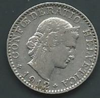 SUISSE 20 Rappen 1912 Laupi 12703 - Suisse