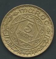 1 PIECE MAROC EMPIRE CHERIFIEN MAROCCO AN 1365 - 5 FRANCS   Laupi 12705 - Marokko