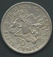 Kenya   -  50 CENTS 1967 KENIA   Laupi 12708 - Kenya