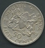 Kenya   -  50 CENTS 1967 KENIA   Laupi 12708 - Kenia