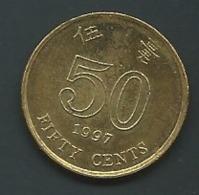 HONG KONG - KM 74 - 50 CENTS 1997   Laupi 12712 - Hong Kong