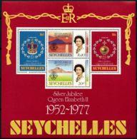 Seychelles, 1977, Silver Jubilee Queen Elizabeth II, Royal, MNH, Michel Block 8 - Seychellen (1976-...)