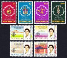 Seychelles, 1977, Silver Jubilee Queen Elizabeth II, Royal, MNH, Michel 385-392 - Seychellen (1976-...)