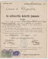 ITALIE / AVIS ADMINISTRATIF DE LA COMMUNE DE CHIGGIOGNA / 1936 - Documentos Antiguos