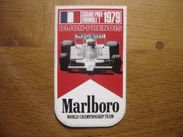 Autocollant Sticker 1979 GRAND PRIX DE FRANCE Dijon Prenois FORMULE 1 - Stickers