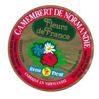 ETIQUETTE De FROMAGE..CAMEMBERT De  NORMANDIE ( Calvados 14-BP)..Fleurs De France..RENY PICOT - Cheese