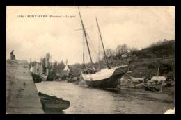 29 - PONT-AVEN - LE QUAI - VOILIER BREIZ-IZEL CANCALE - VOIR ETAT - Pont Aven