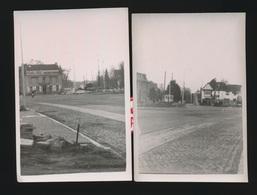 GENT 2 FOTOS  10 X 7 CM  -  DE STERRE MET NIEUWE ROTONDE IN AANLEG - Gent