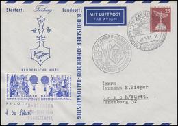 8. Deutscher Kinderdorf Ballonflug BERNINA PP 19/19b SSt AACHEN+TRIBERG 21.5.61 - Montgolfières