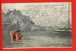 83 TOULON Catastrophe Cuirassé LIBERTE  Canons Tourelle Plage Arrière 25 Sept 1911 Commentaire écrit D'un Survivant - Krieg