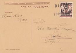 GG: Postkarte Einzelfrankatur Biece Nach Krakau - Besetzungen 1938-45