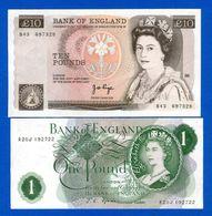 Uk  2  Billets Neuf - 1952-… : Elizabeth II