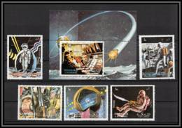 Sharjah - 2068/ N° 988/992 A + Bloc 113 A Apollo 17 Espace (space) ** MNH Astronaut Moon Earth Station 1972 - Space