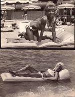 Var, Saint Raphael, Pin-up,  Femme, Lot De 2 Photos, 1965   (bon Etat) Dim : 13.5 X 8.5. - Orte