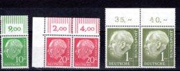 Bund  Michel #  183 : 94 **  Paare OR - Unused Stamps