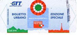 B 3427 -  Biglietto Di Viaggio, Torino, GTT - Europe