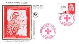 FRANCE. FDC. N°206455. 26/10/2018 .cachet Périgueux . Croix Rouge. - 2010-....