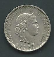 SUISSE : 20 RAPPEN 1975  Laupi 12903 - Suisse