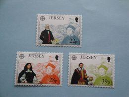 Bateaux 1992 Jersey Yv 572/4 ** MNH Michel 574/6 Scott 593/5 SG 584/6  Ships Colomb - Jersey