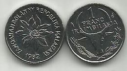 Madagascar 1 Franc 1982. KM#8 - Madagascar