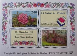 R1337/2 - 1993 - FRANCE - PARC FLORAL DE PARIS - SALON DU TIMBRE - BLOC N°15 NEUF** - Nuovi