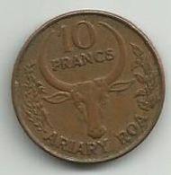 Madagascar 10 Francs 1991. - Madagascar