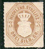 Allemagne Meckenbourg-Strelitz Année 1864   N°6* - Mecklenburg-Strelitz