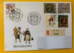 10210 - Bundesfeier Rütli 1.08.1990 Recommandé - Lettres & Documents