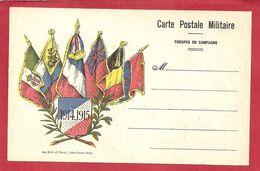 FM CARTE DE FRANCHISE MILTAIRE 6 DRAPEAUX  VIERGE - Military Service Stampless