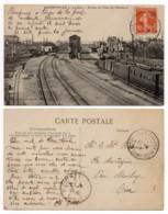 Alfortville 94 - La Gare Avec L'arrivée Du Train De Villeneuve - Gares - Avec Trains